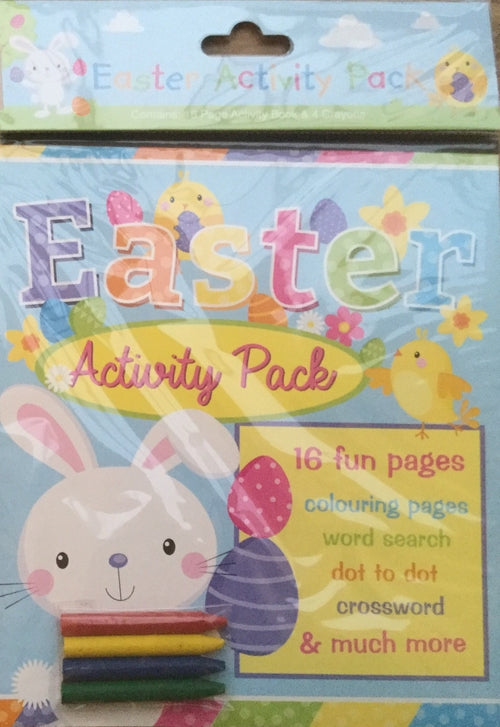 Easter Activity Book & 4 Crayons
