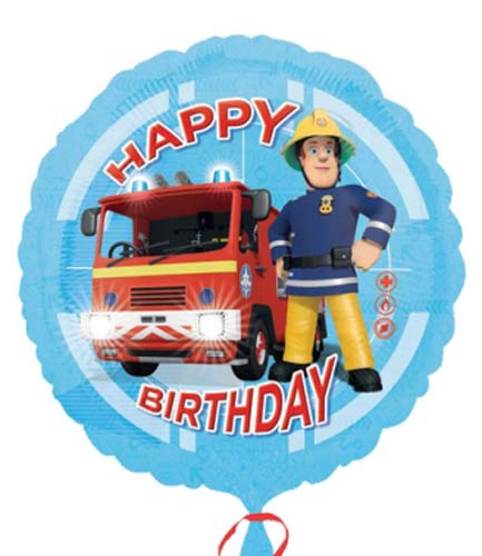 Fireman Sam Happy Birthday Helium Filled Foil Balloon