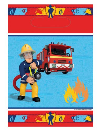 Fireman Sam Party Loot Bags x8