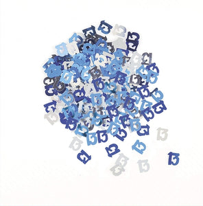 Blue And Silver 13 Metallic Confetti 14g