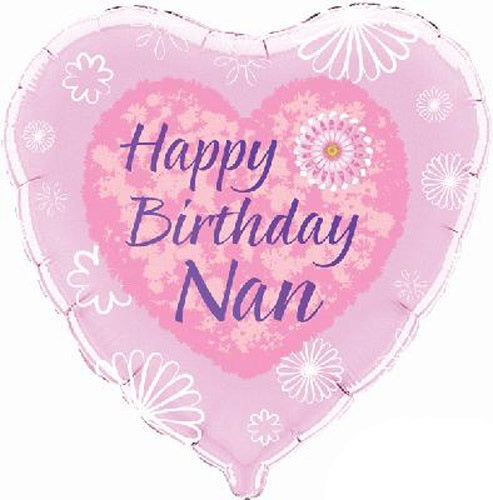 Happy Birthday Nan Helium Filled Foil Balloon