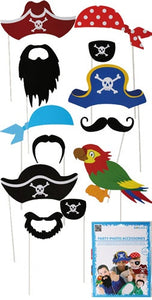 Pirate Party Photo Props (12 Pieces)