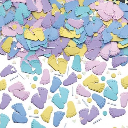 Embossed Pitter Patter Metallic Confetti 14g