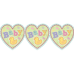 Tiny Bundle Baby Shower Printed Paper Garland x1