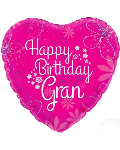 Happy Birthday Gran Helium Filled Foil Balloon