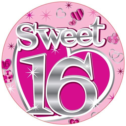 Sweet 16 Jumbo Badge