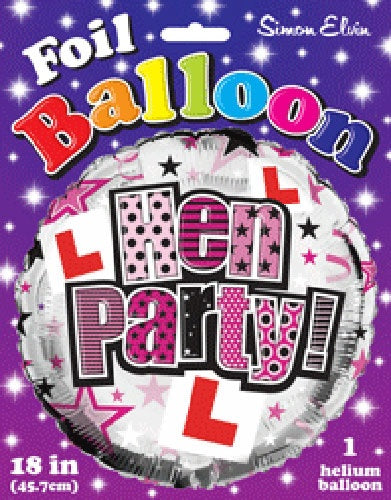 Hen Party Helium Filled Foil Balloon