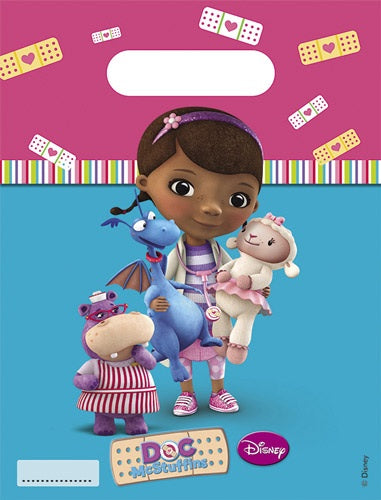 Disney Doc McStuffins Party Loot Bags x6