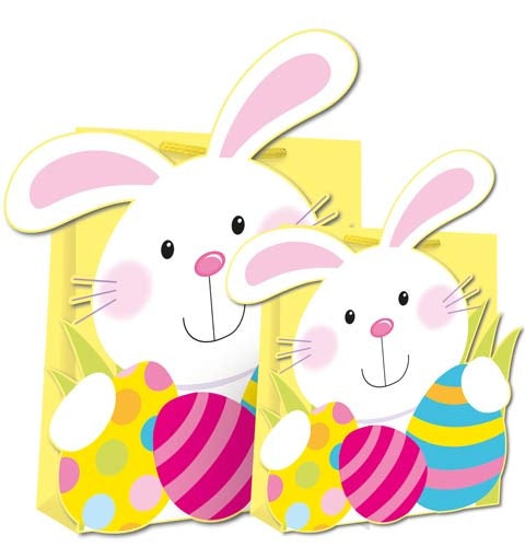 Die Cut Easter Bunny Medium Gift Bag