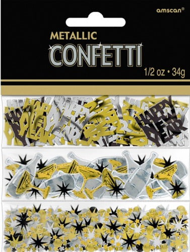 New Year Metallic Confetti 34g