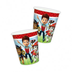 Paw Patrol Paper Party Cups x8