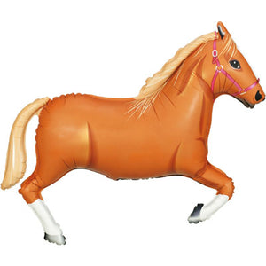 Light Brown Horse Helium Filled Supershape Foil Balloon