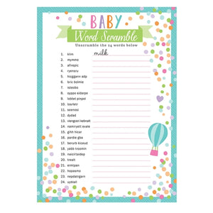 Baby Shower Word Games x24