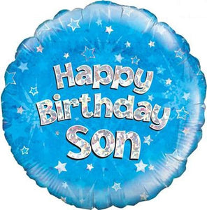 Happy Birthday Son Helium Filled Foil Balloon
