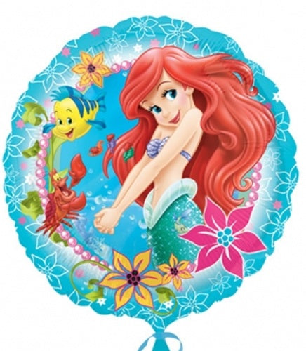 Little Mermaid Helium Filled Foil Balloon