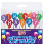Happy Birthday Multi Colour Balloon Shape Candle Set