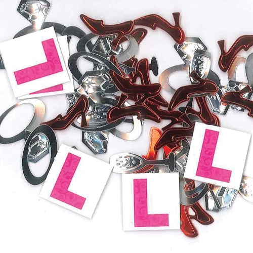 Hen Party L Plate Confetti 14g