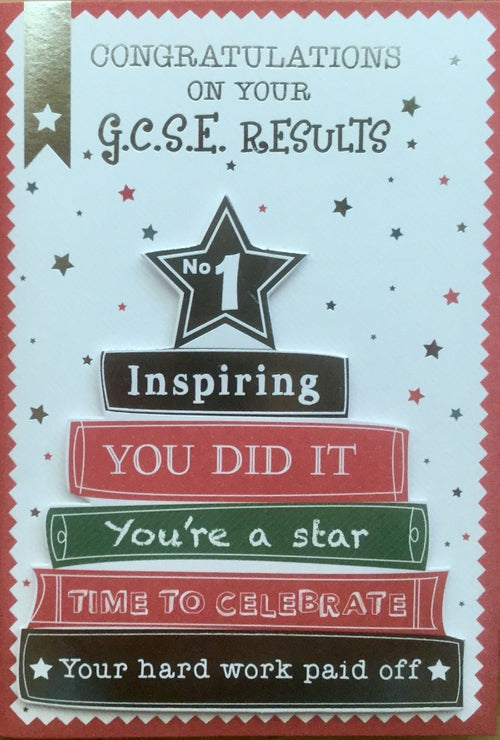 Congratulations On Your GCSE Results Greeting Card.