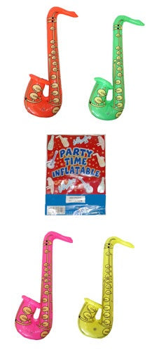 Inflatable Saxophone 75cm In 4 Assorted Colours