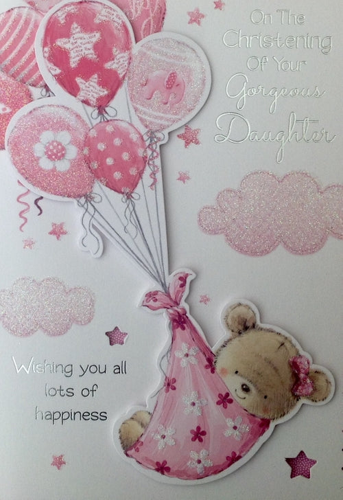 On The Christening Of Your Gorgeous Daughter Greeting Card