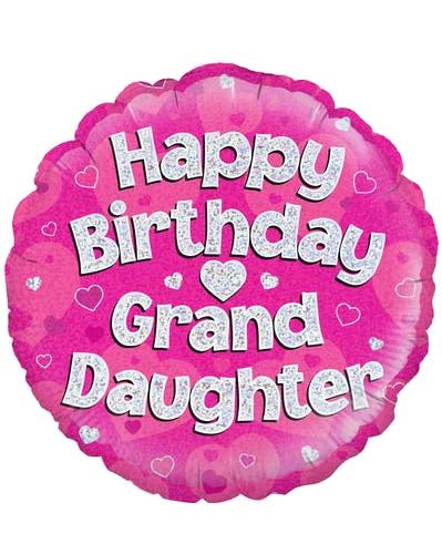 Happy Birthday Grand Daughter Helium Filled Foil Balloon
