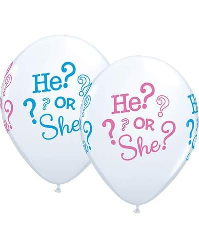 He Or She? Latex Balloon (Sold loose)