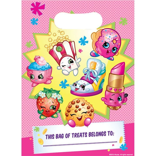Shopkins Party Loot Bags x8