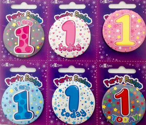 Age 1 Small Birthday Badge