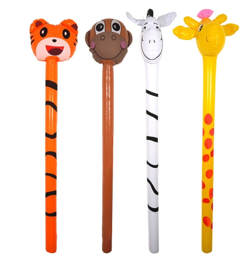 Jungle Animal Stick 118cm In 4 Assorted Designs