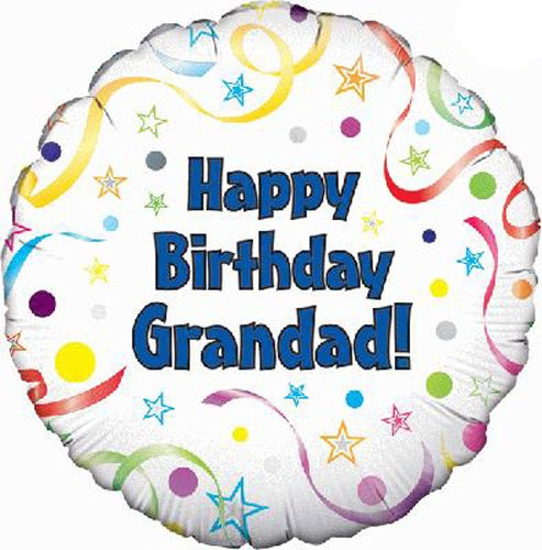 Happy Birthday Grandad Helium Filled Foil Balloon