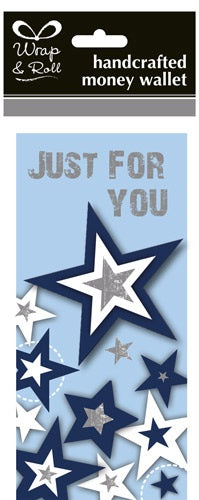 Just For You Blue Stars Handcrafted Money Wallet
