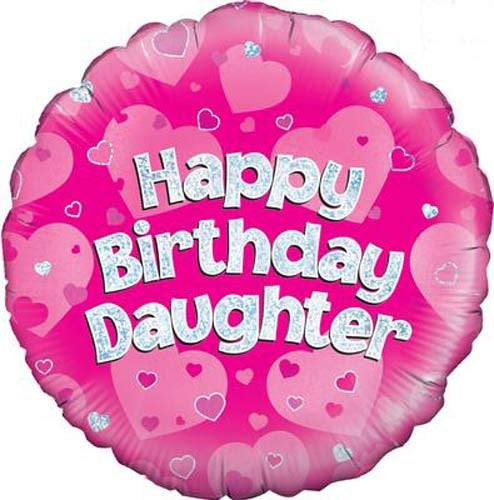 Happy Birthday Daughter Helium Filled Foil Balloon