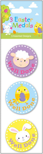 Easter Medals x3 In Assorted Designs