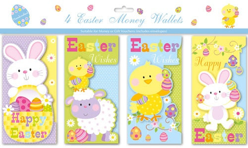 Easter Money Wallets x4