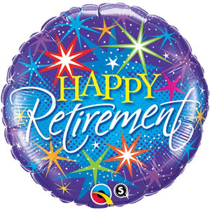 Happy Retirement Helium Filled Foil Balloon