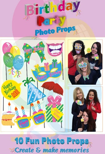 Birthday Party Photo Props (10 Pieces)