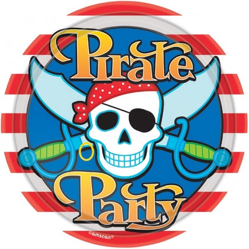 Pirate Paper Party Plates x8