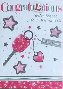 Congratulations You've Passed Your Driving Test Greeting Card
