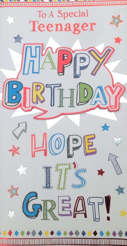 To A Special Teenager Greeting Card