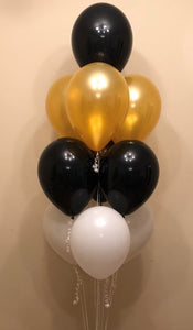 10 Latex Balloon Cluster