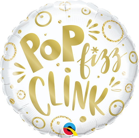 Pop Fizz Clink Helium Filled Foil Balloon