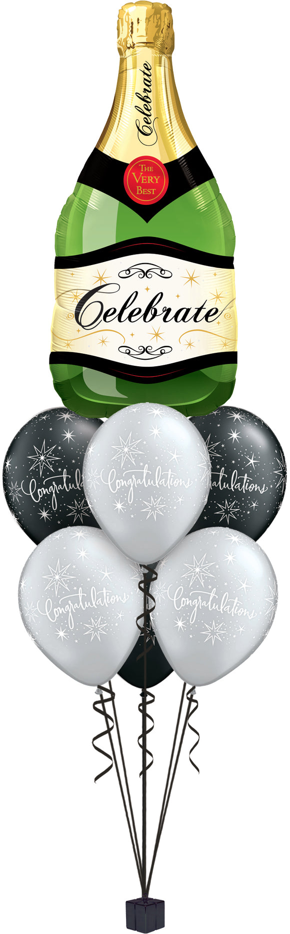 Champagne Bottle Celebration Balloon Cluster