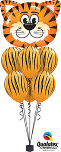 Tickled Tiger Stripes Balloon Cluster