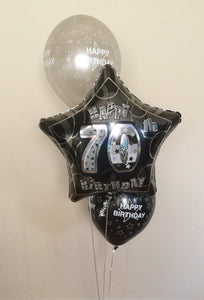 "3 Balloon Cluster Consisting of 1 x 18"" Printed or Plain Foil Balloon And 2 x Latex Balloons"