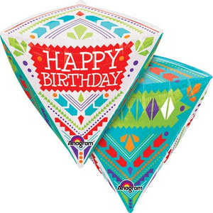Happy Birthday Diamondz Helium Filled Foil Balloon