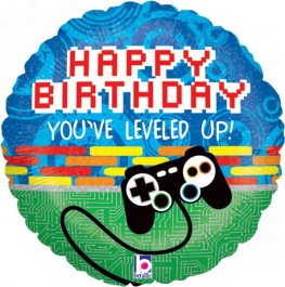 Happy Birthday Game Controller Helium Filled Foil Balloon