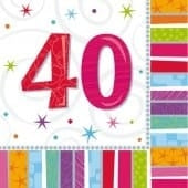 Radiant 40 Party Napkins x16