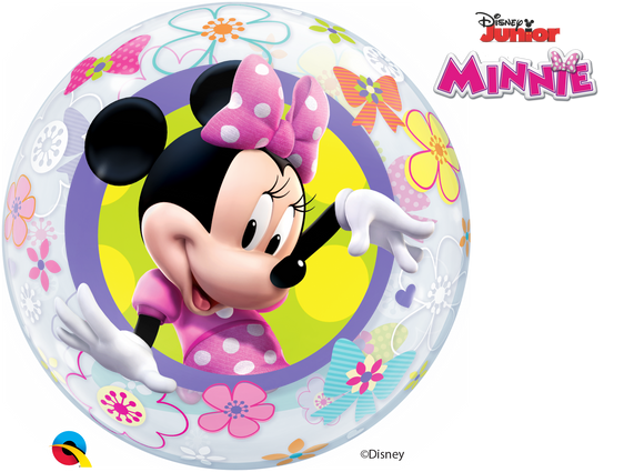 Minnie Mouse Bow-tique 2-Sided Helium Filled Single Bubble Balloon