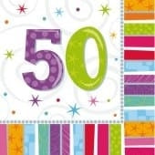 Radiant 50 Party Napkins x16