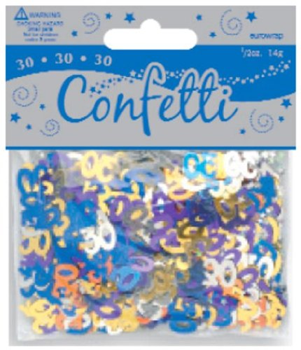 Multi Colour 30 Metallic Confetti 14g